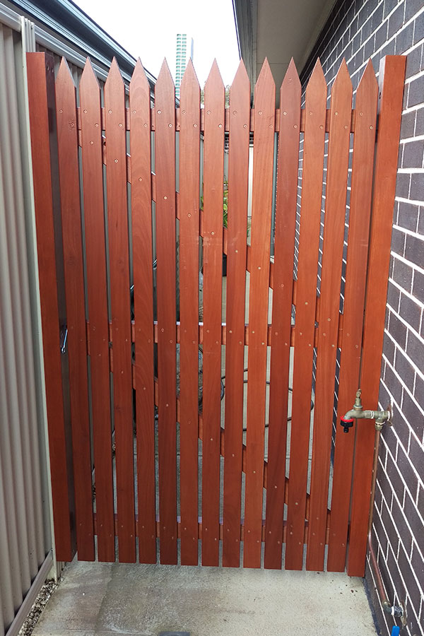 Jarrah Picket Gate Front View small