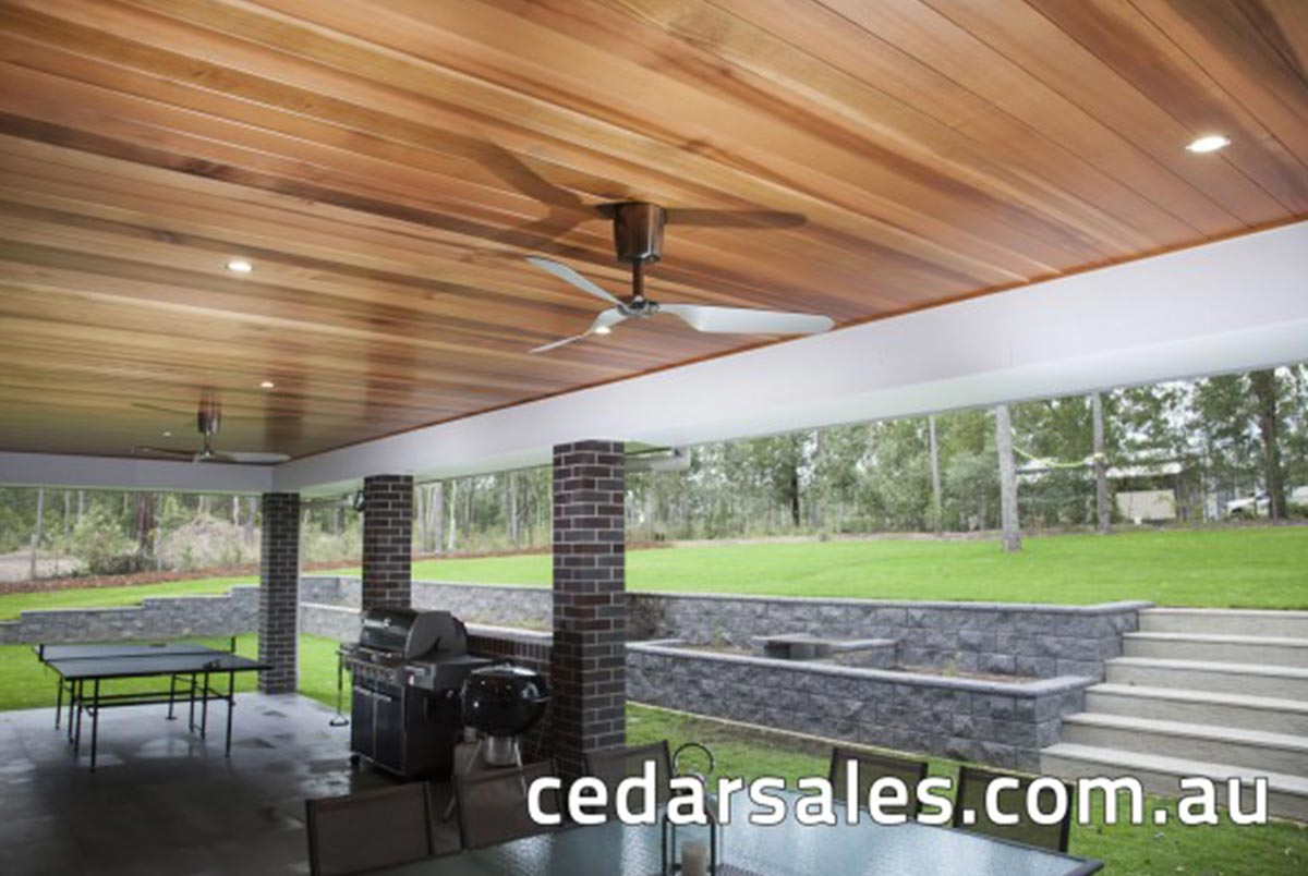 western red cedar VJoint Alfresco ceiling